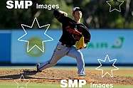 Kosuke Sakaguchi of the Canberra Cavalry PHOTO: James Worsfold / SMP IMAGES / Baseball Australia | Action from the Australian Baseball League 2019/20 Round 2 clash between the Perth Heat v Canberra Cavalry played at Perth Harley-Davidson ballpark, Pe
