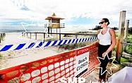 Coolangatta Beach Closed