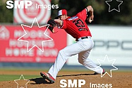 Josh Rawlinson of the Perth Heat  PHOTO: James Worsfold / SMP IMAGES / Baseball Australia | Action from the Australian Baseball League 2019/20 Round 2 clash between the Perth Heat v Canberra Cavalry played at Perth Harley-Davidson ballpark, Perth, We