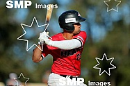 Sam Kennelly of the Perth Heat PHOTO: James Worsfold / SMP IMAGES / Baseball Australia | Action from the Australian Baseball League 2019/20 Round 2 clash between the Perth Heat v Canberra Cavalry played at Perth Harley-Davidson ballpark, Perth, Weste