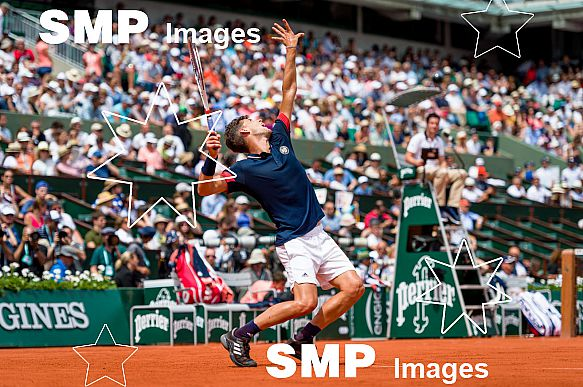 Dominic THIEM (AUT) at French Open 2018