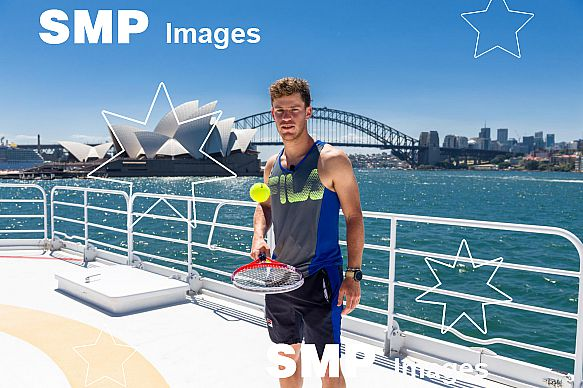 Mischa Zverev (GER) and Diego Schwartzman (ARG) at Sydney Harbour