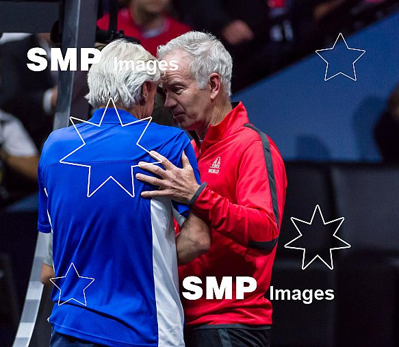 John MCENROE (WORLD TEAM) & Bjorn BORG (EUROPE TEAM)