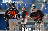 Taylor Kohlwey of the Canberra Cavalry PHOTO: James Worsfold / SMP IMAGES / Baseball Australia | Action from the Australian Baseball League 2019/20 Round 2 clash between the Perth Heat v Canberra Cavalry played at Perth Harley-Davidson ballpark, Pert