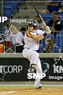 Alex Hall of the Perth Heat PHOTO: James Worsfold / SMP IMAGES / Baseball Australia | Action from the Australian Baseball League 2019/20 Round 2 clash between the Perth Heat v Canberra Cavalry played at Perth Harley-Davidson ballpark, Perth, Western