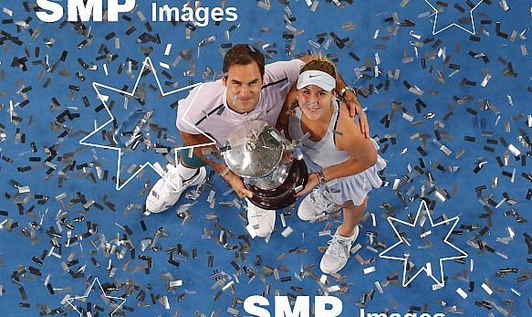 ROGER FEDERER ( Team Switzerland ) / BELINDA BENCIC( Team Switzerland )