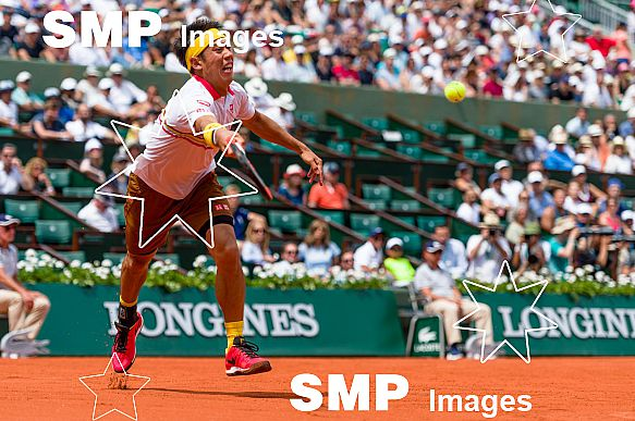 Kei NISHIKORI (JPN) at French Open 2018