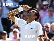 Novak Djokovic wins Mens Singles Final The Championships , Wimbledon, 2018